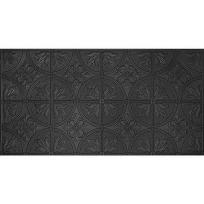 Dimensions Faux 2 ft. x 4 ft. Black Tin Style Ceiling and Wall Tiles