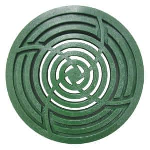 8 in. Round Green Drainage Grate