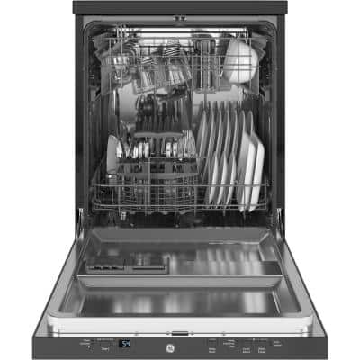 24 in. Stainless Steel Portable Dishwasher 120-Volt with 12 Place Settings Capacity and 54 dBA