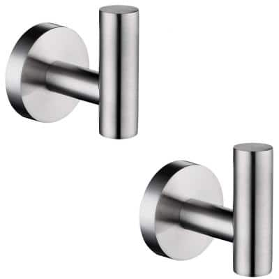 Stainless Steel Nickel Towel Hooks Bathroom Hardware The Home Depot
