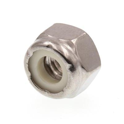 1/4 in.-20 Grade 18-8 Stainless Steel Nylon Insert Lock Nuts (50-Pack)