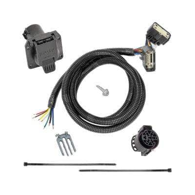 3.2 in. 0 ft. 118283 7 Way Tow Harness Connector Cable Wiring Package for Ford Vehicles