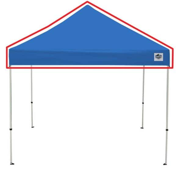 King Canopy Universal Blue Cover For 10 Ft X 10 Ft Instant Pop Up Tent Inat10bl The Home Depot