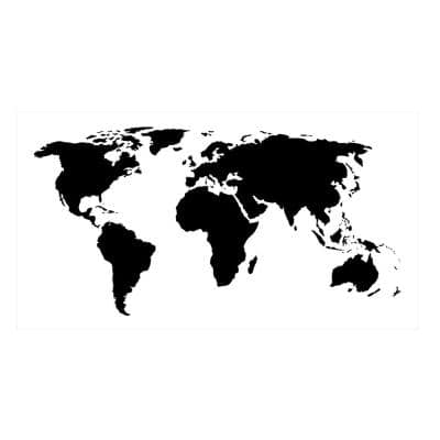 Large World Map Wall Stencil
