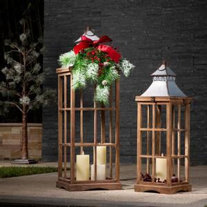 Farmhouse Multi-Color Wood/Metal Lanterns (Set of 2)