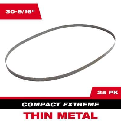 30-9/16 in. 12/14 TPI Compact Extreme Thin Metal Cutting Band Saw Blade (25-Pack) For M12 FUEL Bandsaw