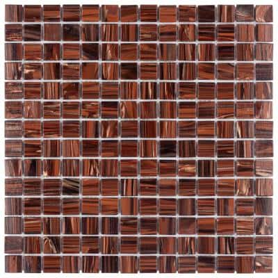 Coppa Auburn 12 in. x 12 in. Glass Mosaic Tile (13.27 sq. ft. / Case)