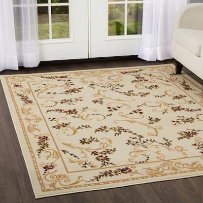 Optimum Ivory 8 ft. x 10 ft. Indoor Area Rug