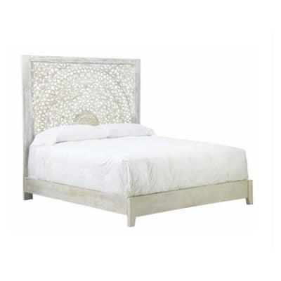 Chennai Whitewash Queen Bed