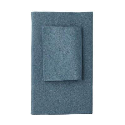 Logan Jersey Cotton Blend Full Flat Sheet in Teal