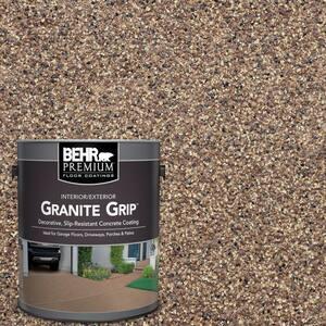 1 Gal. Tan Granite Grip Decorative Flat Interior/Exterior Concrete Floor Coating