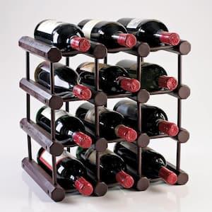 Modular 12-Bottle Wine Rack in Mahogany