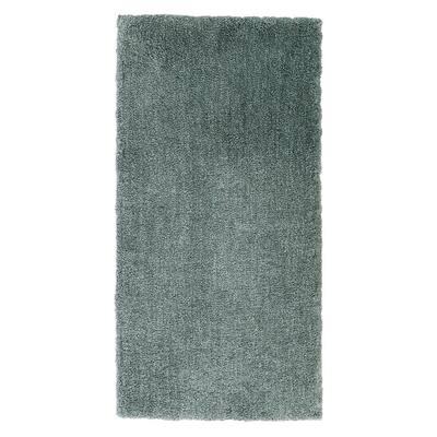 Ethereal Shag Aqua Sea 2 ft. x 4 ft. Indoor Scatter Rug