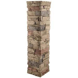 Stacked Stone 11.25 in. x 48 in. Desert Sunrise Faux Pillar Panel Siding