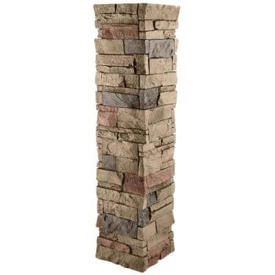 Stacked Stone 11.25 in. x 48 in. Desert Sunrise Faux Pillar Panel Siding