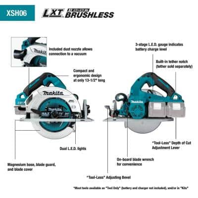 18-Volt X2 LXT Lithium-Ion (36-Volt) Brushless Cordless 7-1/4 in. Circular Saw Kit 5.0Ah