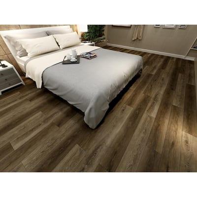 Heritage Aged Walnut 7 in. W x 48 in. L Rigid Core Click Lock Luxury Vinyl Plank Flooring (19.02 sq. ft./Case)
