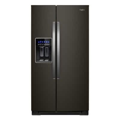28 cu. ft. Side by Side Refrigerator in Fingerprint Resistant Black Stainless