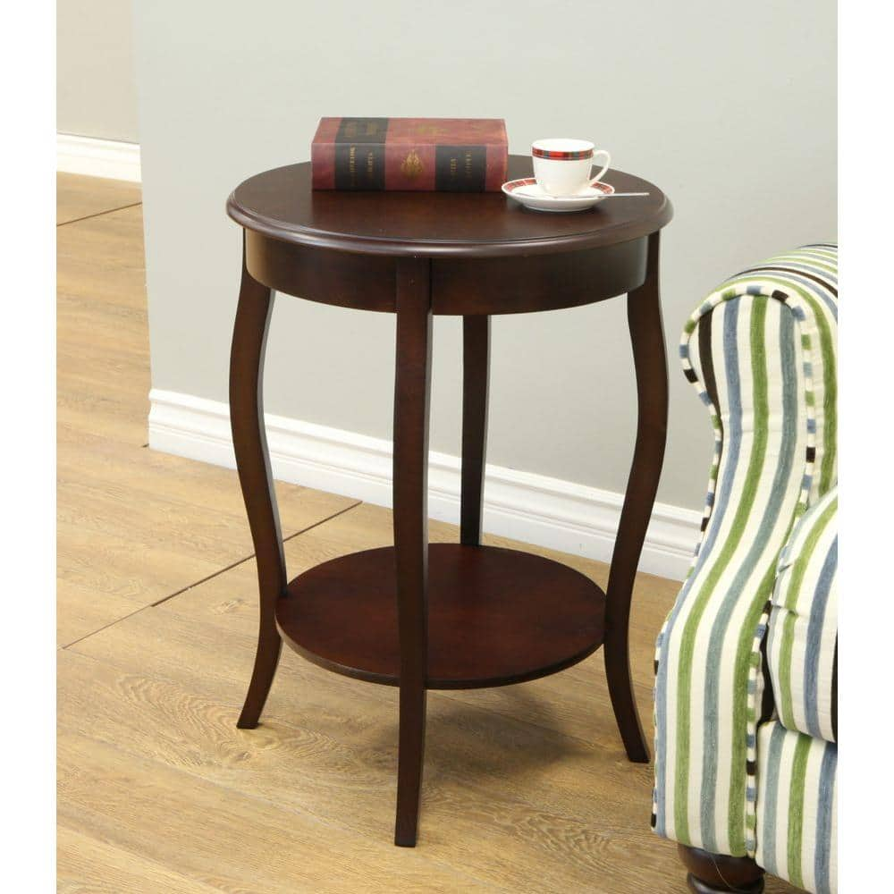 Homecraft Furniture Espresso End Table Mh307 The Home Depot