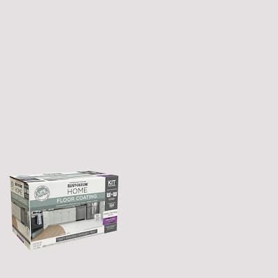 1 qt. Steam Gray Interior Floor Base Semi-Gloss Clear Coating Kit