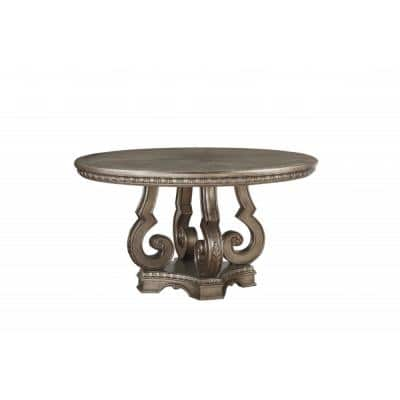 Amelia 30 in. Copper Antique Champagne Dining Table