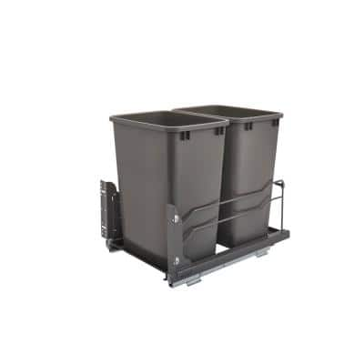 Double 35 qt. Pull-Out Waste Container Soft-Close
