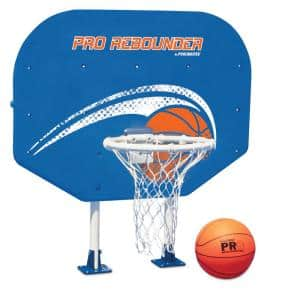 Above Ground Poolside Basketball Game