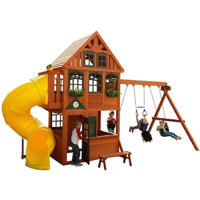 Preston Wooden Swing Set