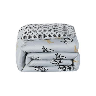 Love 7-Piece Grey/Yellow King Comforter Set