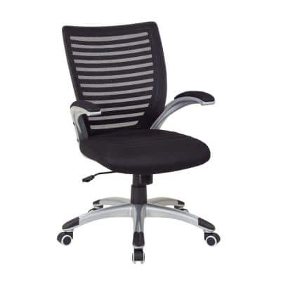 Black Manager Screen Back Office Chair