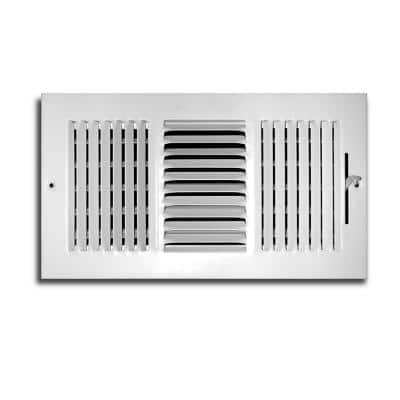 12 in. x 10 in. 3-Way Wall/Ceiling Register