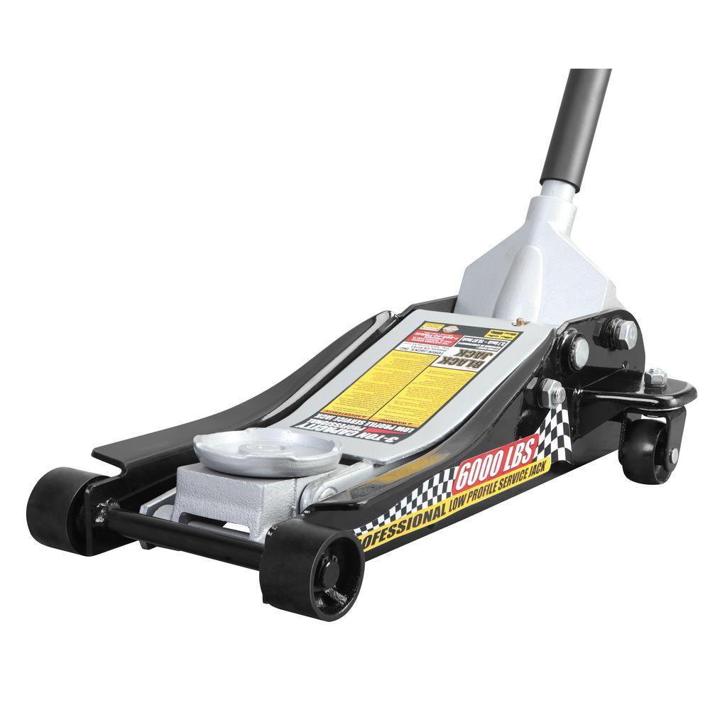 Black Jack 3 Ton. Blackjack Hydraulic Low Profile Steel Racing Floor Jack