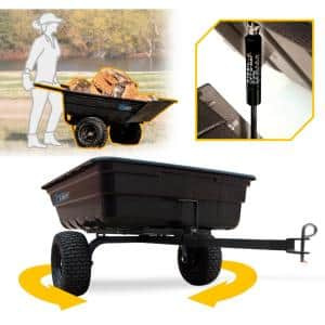 OxCart Green Thumb 12 cu. ft. Lift-Assist and Swivel Dump Cart with Run-Flat Tires
