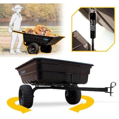 Green Thumb 12 cu. ft. Lift-Assist and Swivel Dump Cart with Run-Flat Tires