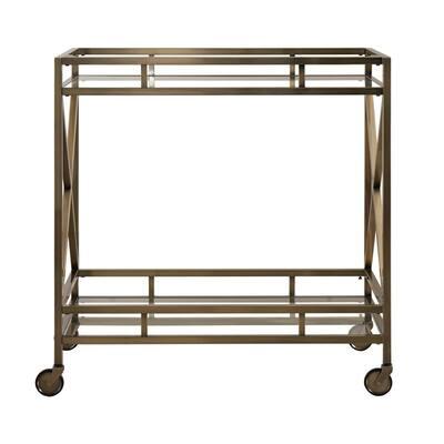 Allie Antique Brass Bar Cart