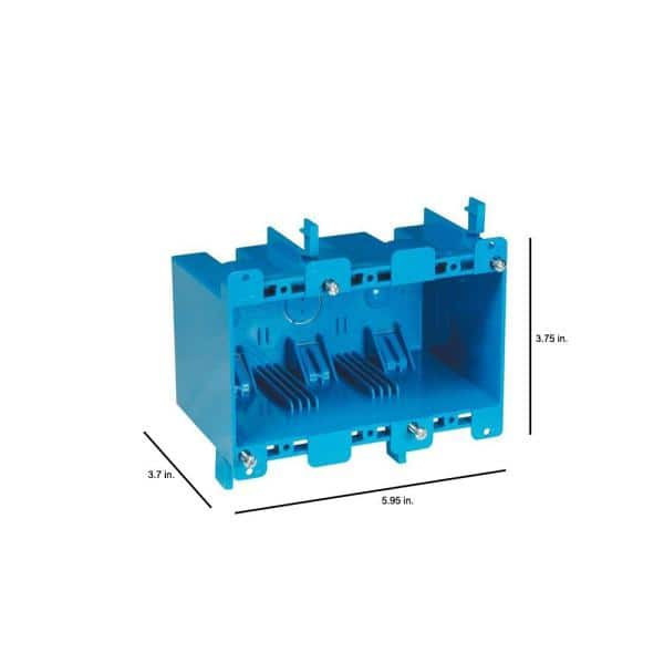 Details about  /Carlon B355R Blue Thermoplastic 3-Gang PVC Electrical Box 5-3//4 in.