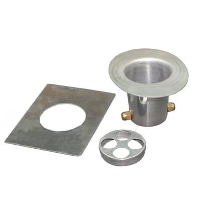 Monarch Aluminum Rain Chain Installation Kit in Natural Aluminum (3-Piece)