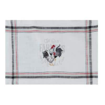 Farmers Market 19 in. x 13 in. Embroidered Multicolor Placemats (Set of 4)