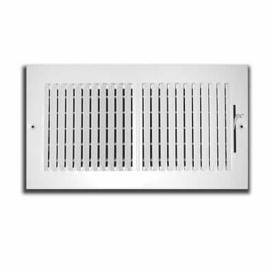 16 in. x 8 in. 2 Way Wall/Ceiling Register