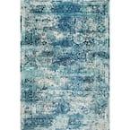 Shuler Vintage Ocean Blue 9 ft. x 12 ft. Area Rug
