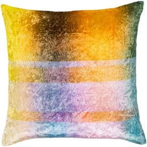 Gordian Yellow Striped Down 22 in. x 22 in. Throw Pillow