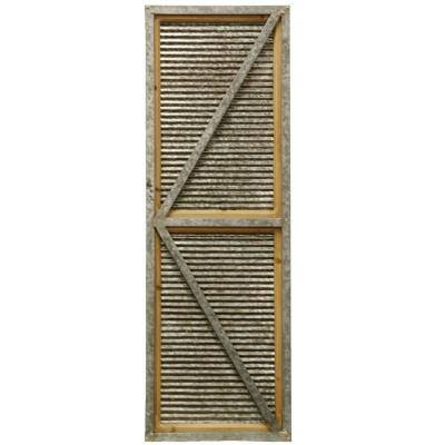Shed Door Industrial Farmhouse Brown Wooden Wall Art