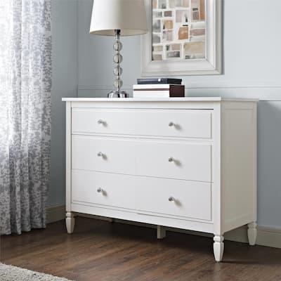 Vivienne 6-Drawer White Dresser