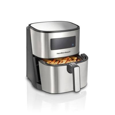 5 Qt. Stainless Steel Digital Air Fryer with Nonstick Basket