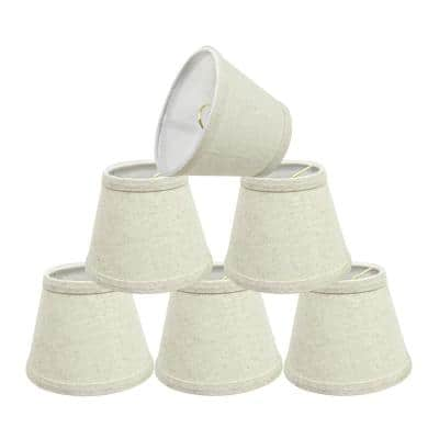 5 in. x 4 in. Oatmeal Hardback Empire Lamp Shade (6-Pack)