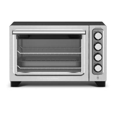 Black Matte Compact Toaster Oven