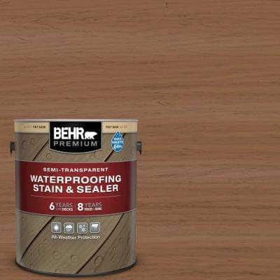 1 gal. #ST-152 Red Cedar Semi-Transparent Waterproofing Exterior Wood Stain and Sealer