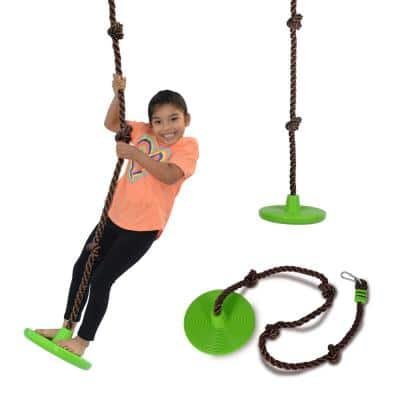 Disco 3-in-1 Multi-Purpose Sit, Stand and Climb Disc Swing, Heavy-Duty Climbing Rope Swing