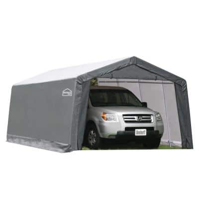 10 ft. W x 20 ft. D x 8 ft. H Steel Frame/Polyethylene Instant Garage/Shed without Floor
