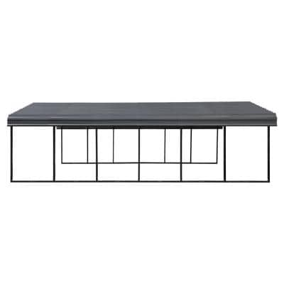 20 ft. W x 29 ft. L x 7 ft. H Charcoal Steel Wind and Snow Rated Carport